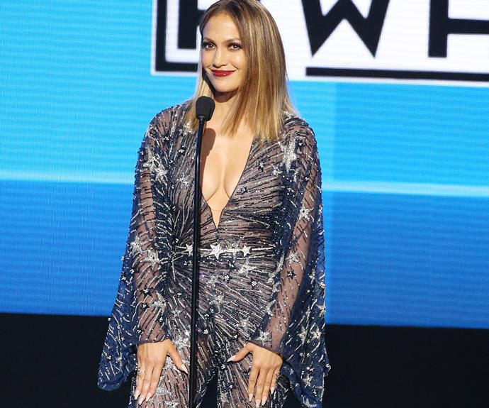 Jennifer Lopez AKA Queen Jenny from the block hosted the 2015 American Music Awards.