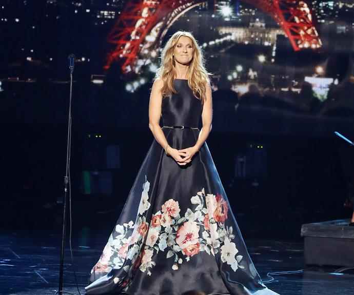 Celine Dion performed a powerful tribute to those who lost their lives during the Paris shootings with a poignant cover of Edith Piaf's *Hymne a L'Amour*. There wasn't a dry eye in the room.