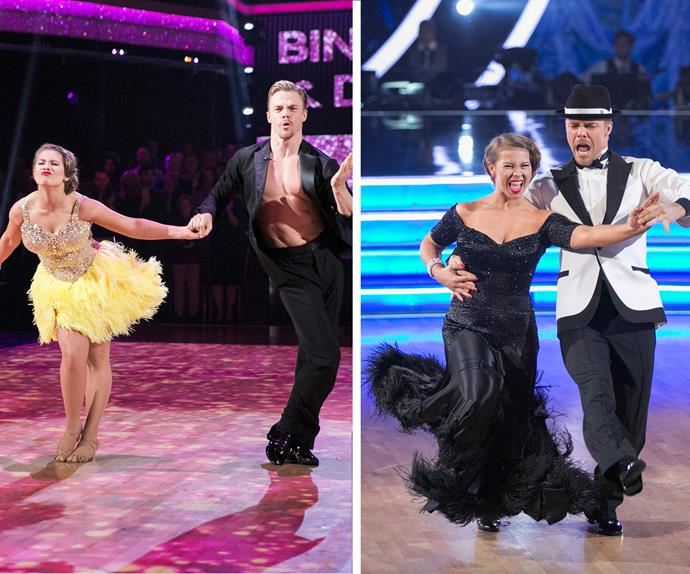 """Week eight saw Bindi having to deal with the intense burdens of the competition, """"it's a lot of pressure, and I have so many dances to learn and there's like this pain that rises up into my chest and I'm just like really, really worried."""""""