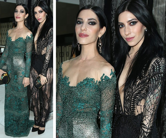 The Veronicas, Jessica and Lisa Origliasso, made quite the impression at the 2014 ARIA Awards rocking sheer, serpent-like lace and smokey eyes. And we have to say, the 32-year-old twins looked sensational!
