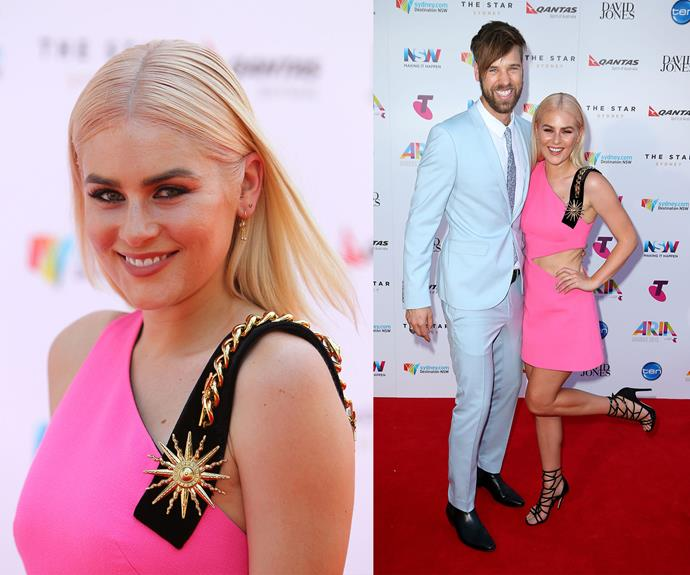 Channel V co-stars Carissa Walford and Danny Clayton cuddle up.