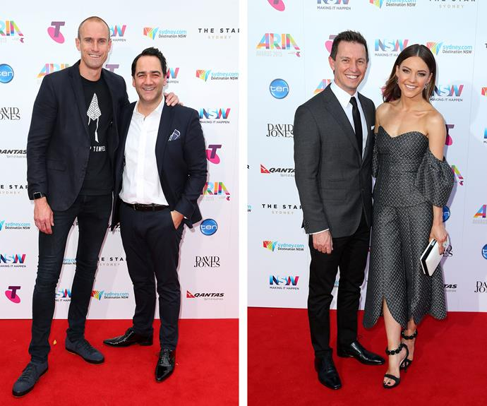 Tuned in! Radio presenters Fitzy, Wippa, Sam and Rove were all thrilled to be reunited with their co-star.