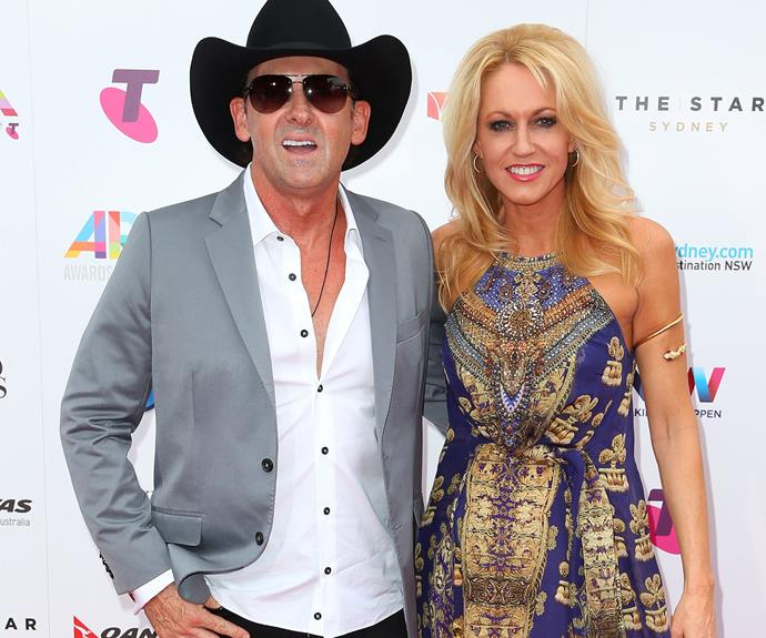 Country crooner was joined by his wife Lee Kernaghan.