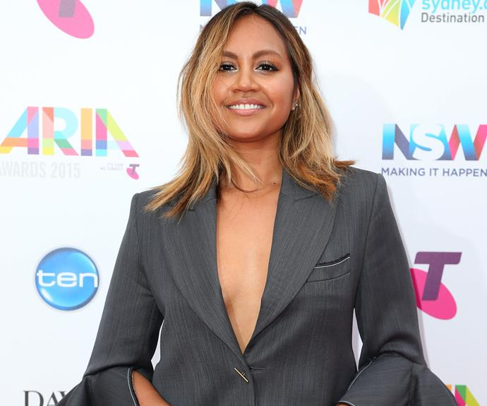 The singer, [who recently sacked her stylist,](http://www.womansday.com.au/celebrity/australian-celebrities/jessica-mauboy-fires-her-stylist-mikey-ayoubi-14153) kept her ombre tresses out and flowing.