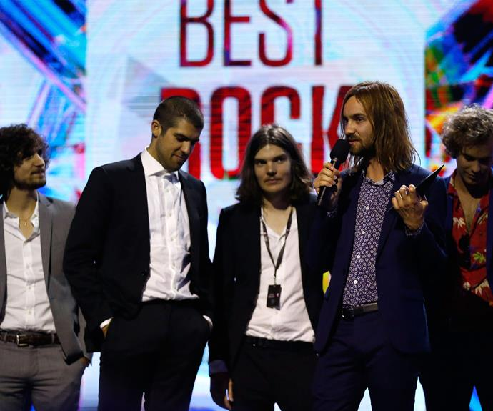 Perth group Tame Impala won the covered Album of the Year gong.