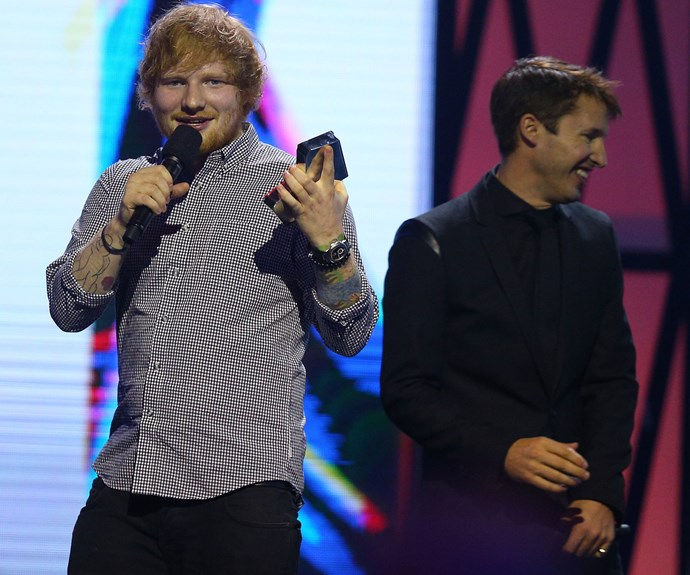 The only thing that tops international guests, are international guests that become besties. Cue in Ed Sheeran and James Blunt, who in 2015 discovered that they were meant to be together. The duo were all giggles when James gifted the ginger Brit the newly inaugurated Diamond Award, for recognition of sales of more than half a million copies of his album X.