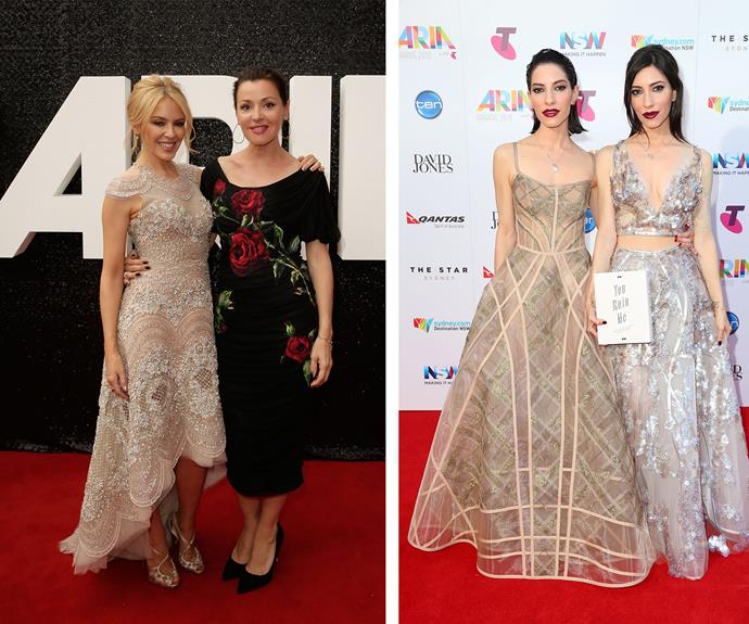 Golden girls! Kylie Minogue, Tina Arena and The Veronicas killed it in the fashion ranks.