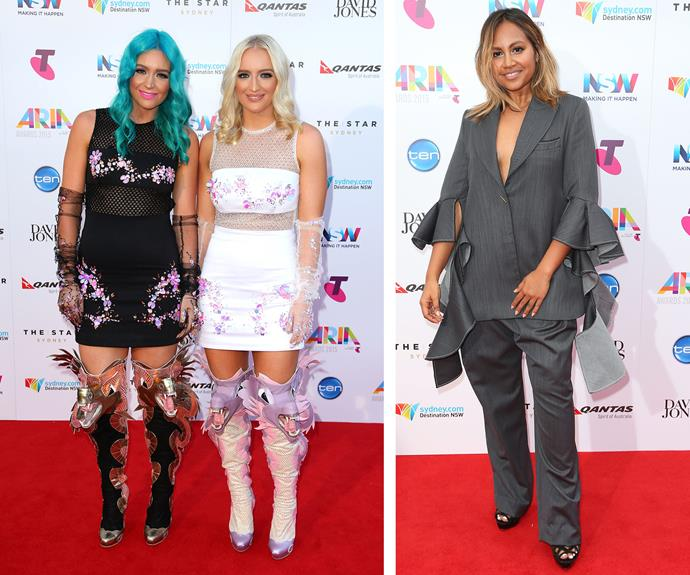Is it possible that Sheppard's dragon boots attacked Jessica Mauboy's outfit!?