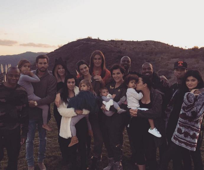 The whole Kardashian-Jenner clan (minus Rob) gathered together for Thanksgiving.