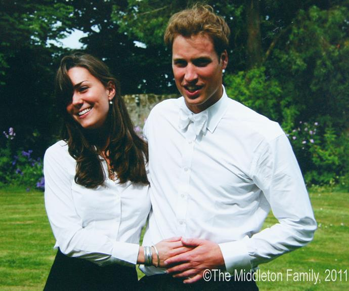 A then Kate Middleton and Prince William on the day of their graduation ceremony at St Andrews University in St Andrew' on June 23, 2005 in Scotland. Six years later they would tie the knot in a magical ceremony.