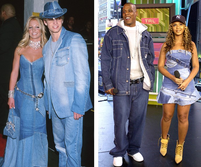 Britney Spears and Justin Timberlake's charming denim ensembles at the 2001 AMAs will go down in the history books. It was even emulated the following year by none other than Jay Z and Beyonce.