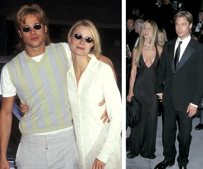 """Looking back at their relationship, which ended in a broken engagement in 1997, the Goop guru has said: """"I definitely fell in love with him. He was so gorgeous and sweet. I mean, he was Brad Pitt."""" Meanwhile, Bad and his former wife Jennifer Aniston were always sartorially in sync during their marriage."""