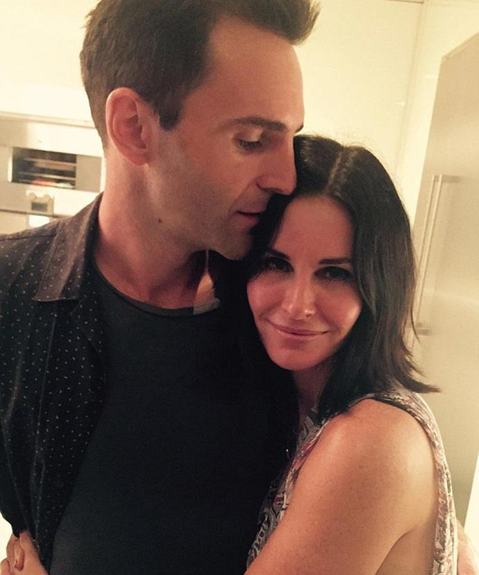 "In September, Courteney posted a sweet selfie with Johnny kissing her head on Twitter, captioning it simply with ""❤️."""