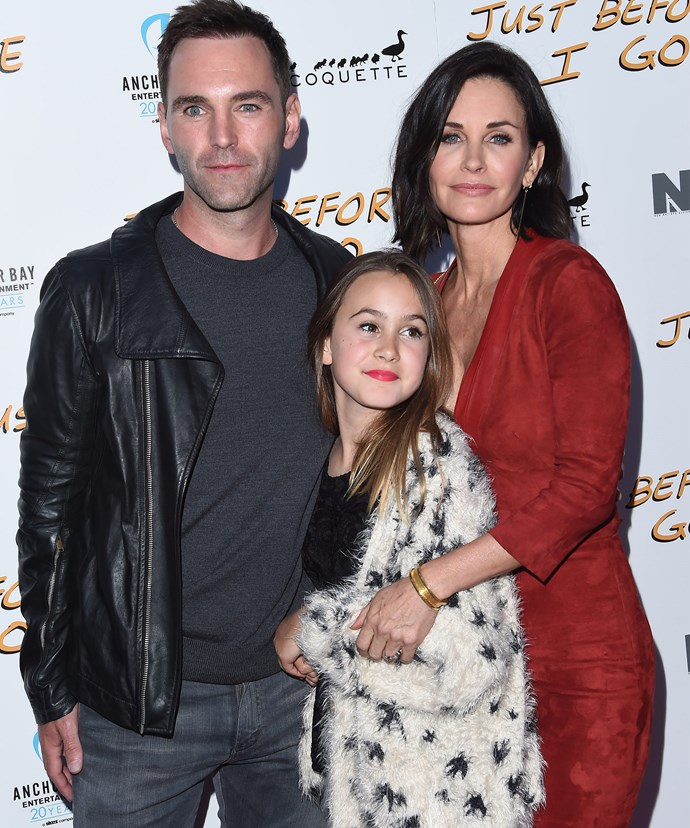 Courteney with her daughter, Coco Arquette and Johnny back in April 2015.