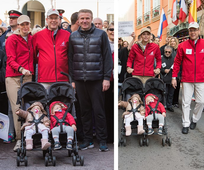 Prince Jacques and Princess Gabriella, who turn one on December 10, joined parents Prince Albert and Princess Charlene for a climate change march in Monaco at the end of November.