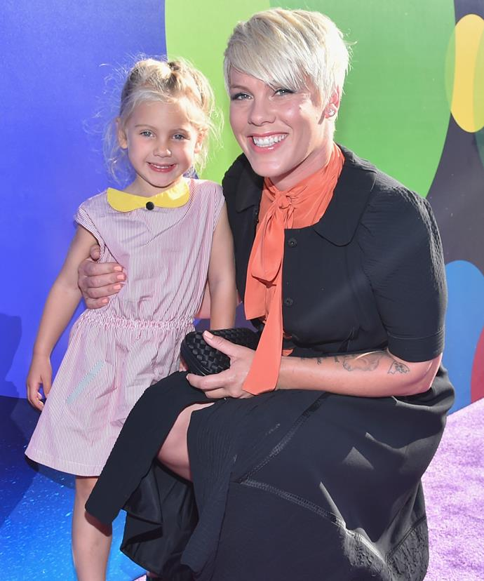 Pink and her gorgeous four-year-old daughter Willow.