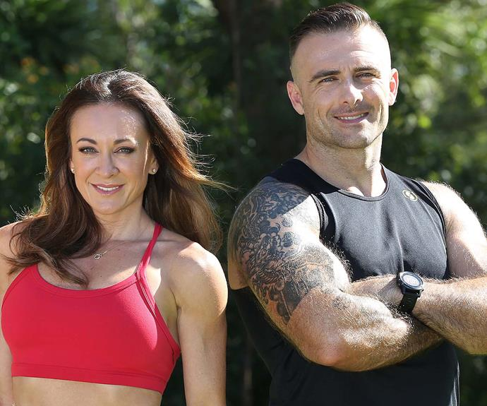 We're used to seeing Michelle and Commando as competitors on *The Biggest Loser*...