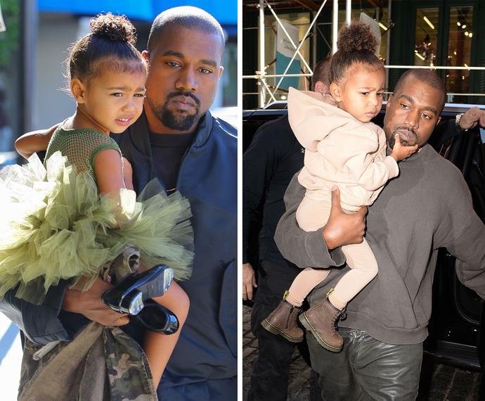 Kanye West might be the toughest man in the business, but he is wrapped around North's little finger, so take note baby bro.