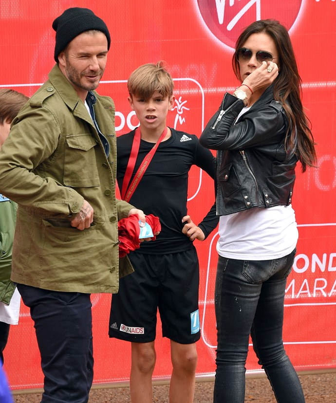 Earlier this year, Romeo ran the London Marathon for charity.