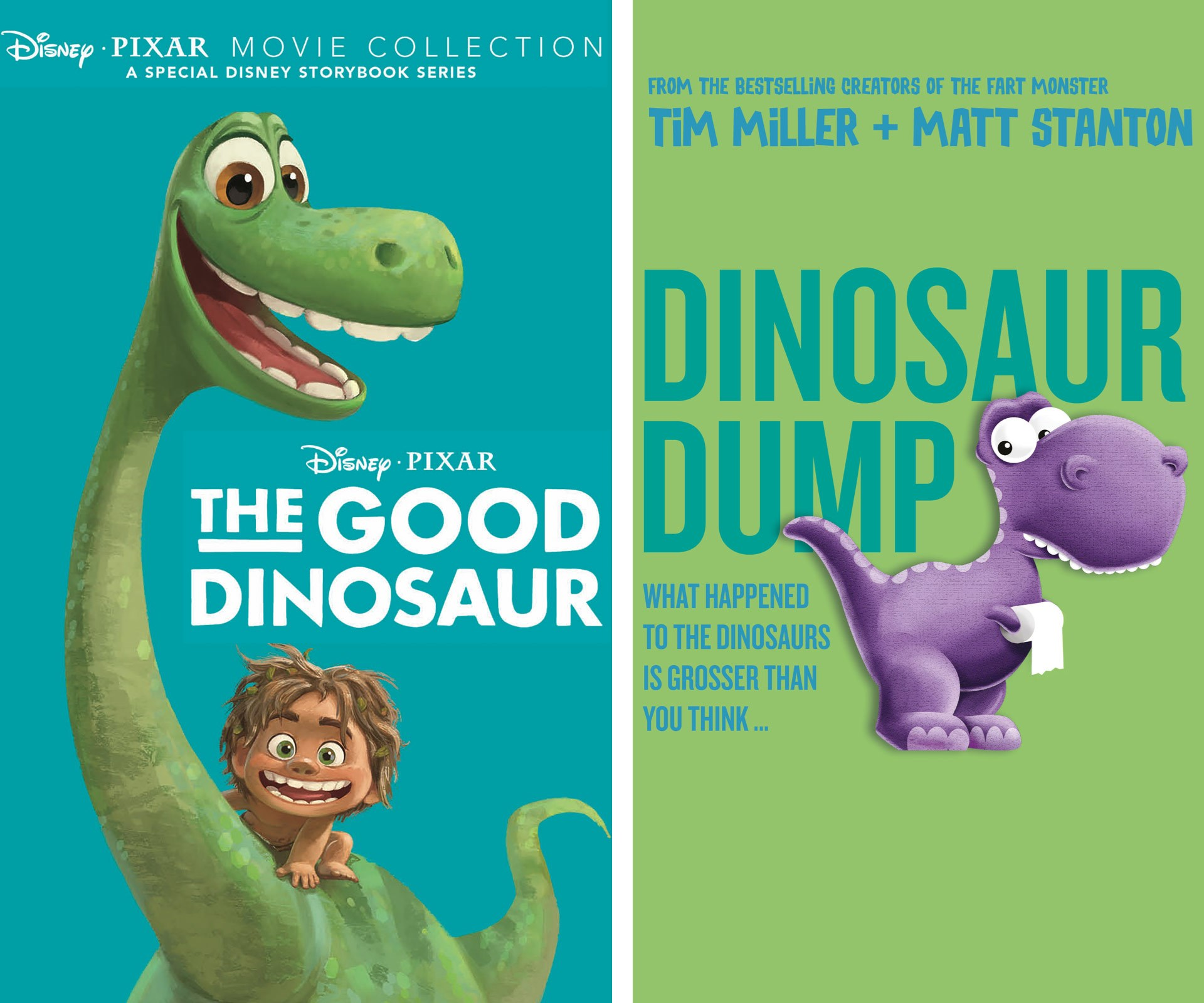 Take a step back in time with your little ones this Christmas and grab them a copy of Disney's *The Good Dinosaur* or the adorable *Dinosaur Dump*. Both are the perfect stocking fillers for all the youngsters.