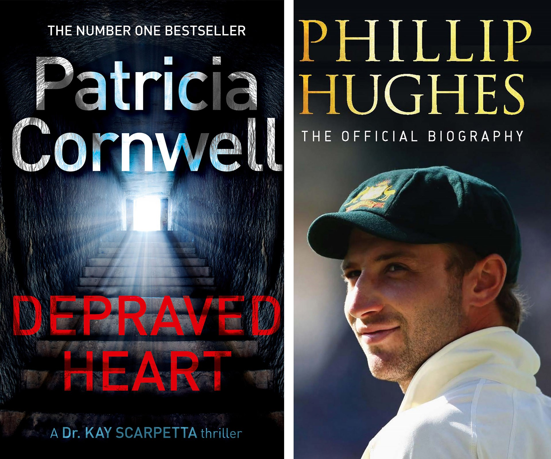 Granny will give you a big smooch for Patricia Cornwell's latest bestseller, *Depraved Heart*. While Pop will be mighty proud is you pick up a copy of the poignant biography of late cricketer, Phillip Hughes.