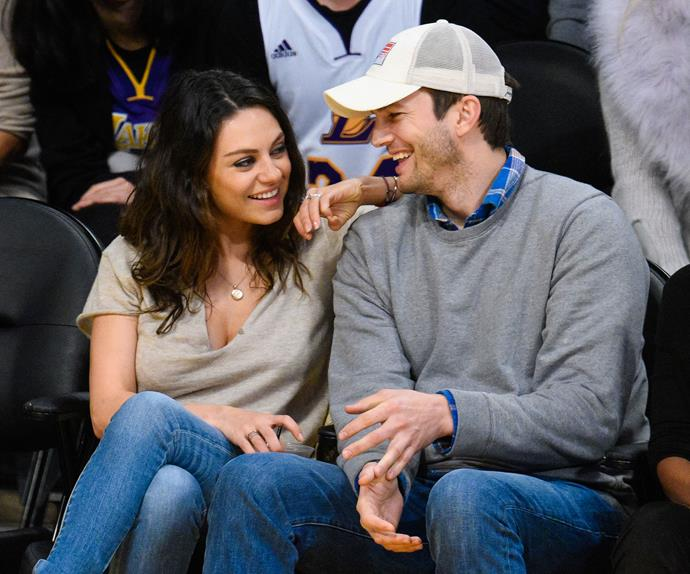"Ashton Kutcher and Mila Kunis have a hilarious story behind choosing the name Wyatt for their girl. ""We were going to a Lakers game and I've got name Tourette's. I just started listing off anything and everything that I saw. I was like, 'Sign! Truck! Wall! Door!' She's like, 'Shut up!' I'm like, 'If you don't accept my bad ideas, you'll never accept the good ones.' Then I was like, 'All right I've got a really dumb idea. What about Wyatt?' She goes, 'That's it.' I was like, 'Really? I did it?' She was like, 'Yeah, that's it,'"" the doting dad told *Conan*."