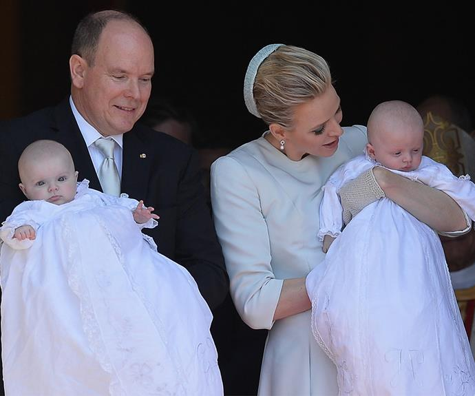 In May, 2015, the world was given another glimpse of the divine duo at their christening.