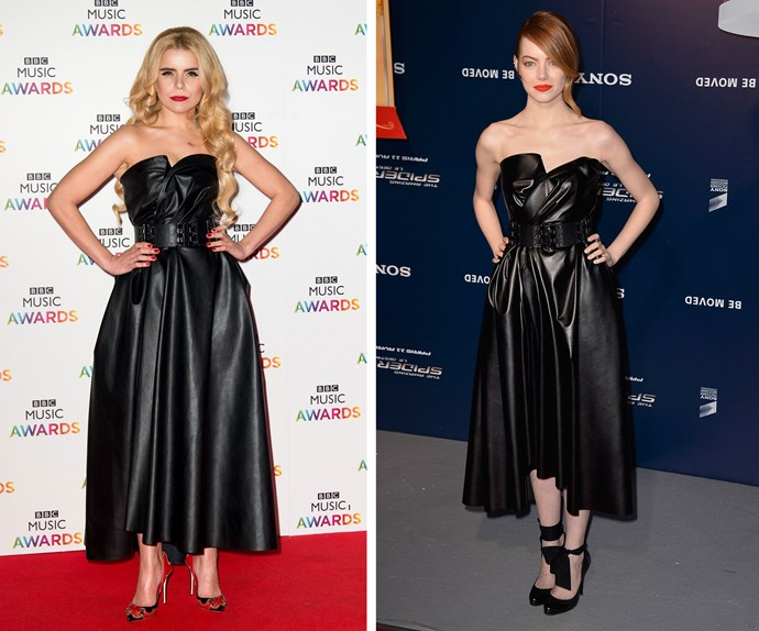 This chic Lanvin dress would look good on anyone, but we reckon both Emma Stone and British popstar Paloma Faith pull it off like red carpet veterans.