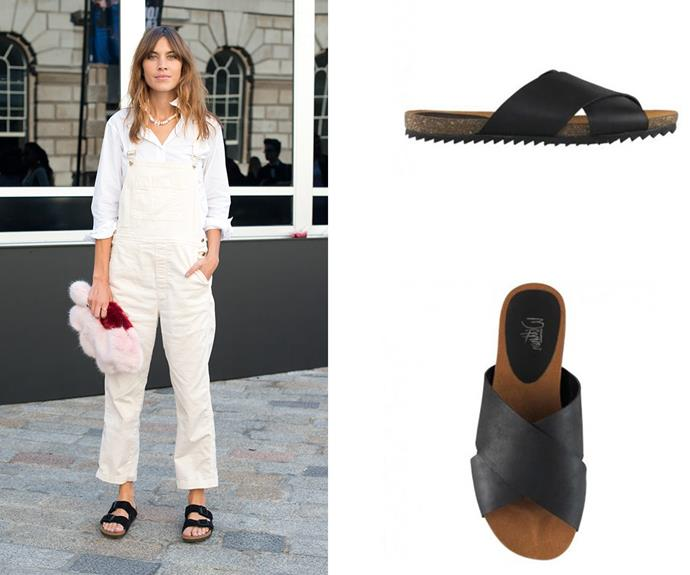 This summer is all about the chic yet practical leather sandal, just ask model Alexa Chung. [Wittner](http://www.wittner.com.au/frappe-blk.html) stock a range of on-trend options, including this this black nappa leather number.