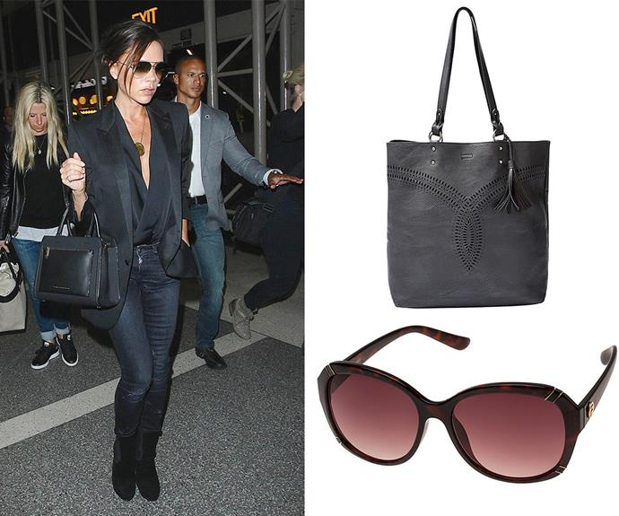 You don't need to spend a small fortune to look as good as Posh! Target's [Fiorelli Catwalk Bruna Sunglasses](http://www.target.com.au/p/fiorelli-catwalk-bruna-sunglasses-tortoiseshell/56030594) will give the designer a run for her money while the [Lily Loves Cohen Tote](http://www.target.com.au/p/lily-loves-cohen-tote/58268889) in black is perfect for carting your things around.