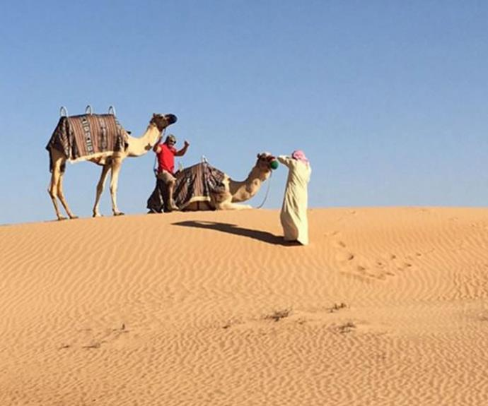 """Wouldn't be the #Dubai desert without the camels!"""