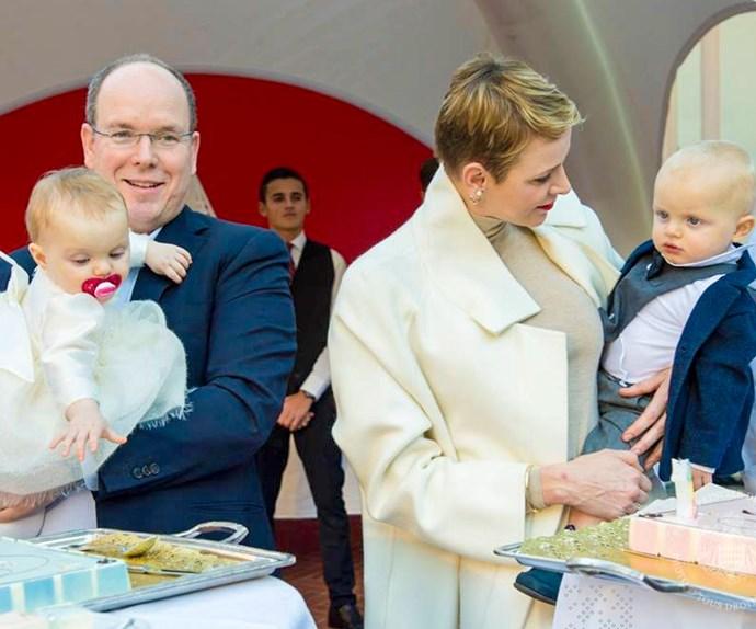 Prince Albert, Princess Charlene, Prince Jacques and Princess Gabriella