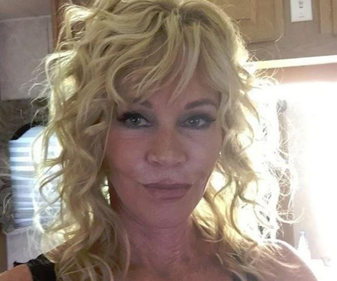 "Melanie Griffith shared this non-filtered selfie this week, declaring, ""Unfiltered... I'm 58. Go ahead, say something mean."""