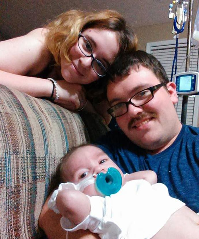 Kyle and his wife Sasha lost their son Hayden before Christmas last year.