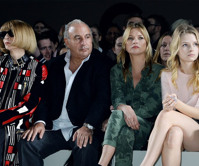 Pals in all the right places! In February 2014, the teenager rubbed shoulders with *Vogue* Editor in Chief  Anna Wintour and Topshop CEO Sir Philip Green at the Topshop Unique show.