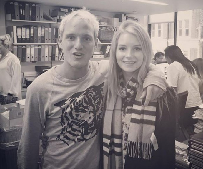 Her sister might be one of the world's most famous supermodels but that doesn't mean she can't get starstruck when she bumps into Jamie Laing from *Made In Chelsea*.