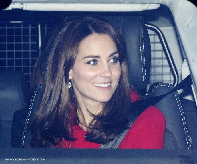 Duchess Catherine looked radiant in red.