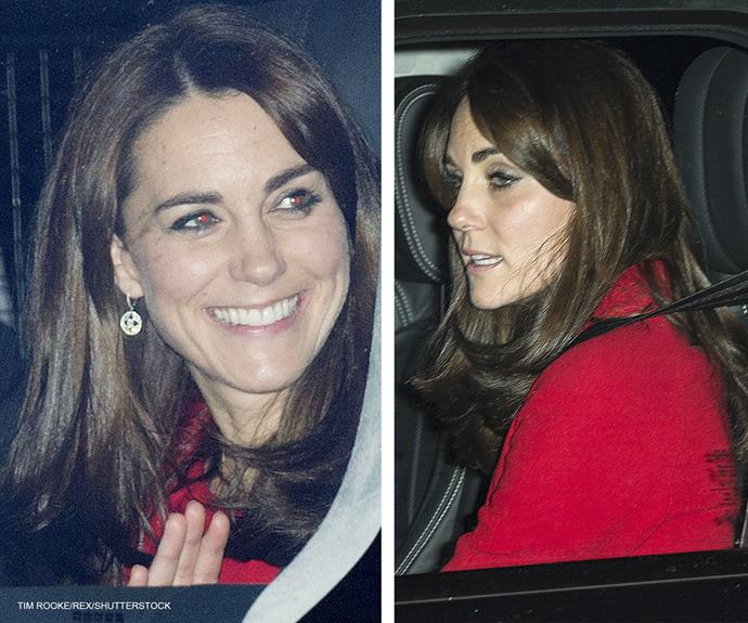 The 33-year-old looked to be in great spirits as she left the bash. We expect Queen Elizabeth put on an excellent spread, as the mum-of-two looked tuckered out as she left the function.
