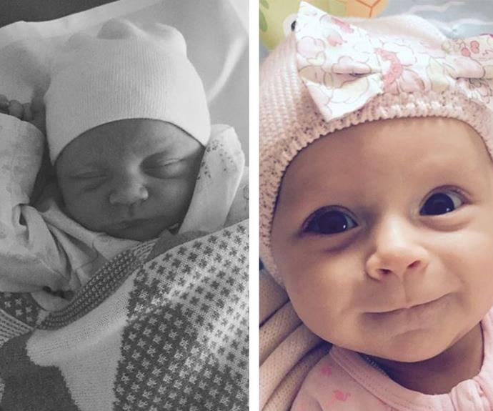 """It's hard to believe it's been a year since Carrie Bickmore and partner Chris Walker welcomed their daughter. """"Welcome to this crazy world little Evie...so happy u arrived safely. Xx,"""" she tweeted after her birth."""