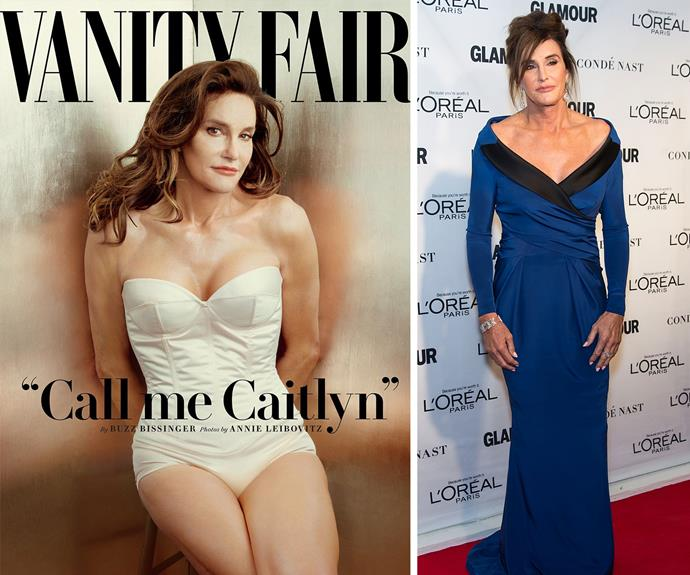 **Caitlyn Jenner unveiled** The world had been waiting for, who we then knew as, Bruce Jenner to make an announcement, and although there had been speculation of a transition, when it was [confirmed on a Diane Sawyer special](http://www.womansday.com.au/celebrity/hollywood-stars/bruce-jenner-reveals-gender-transition-in-tell-all-diane-sawyer-interview-12319) nobody could have guessed the outpouring of support shown for the former Olympian. [And then came Caitlyn's stunning debut cover of *Vanity Fair* and of course, her powerful speech at the ESPYs.](http://www.womansday.com.au/celebrity/hollywood-stars/call-me-caitlyn-bruce-jenner-makes-his-debut-as-a-woman-12744)