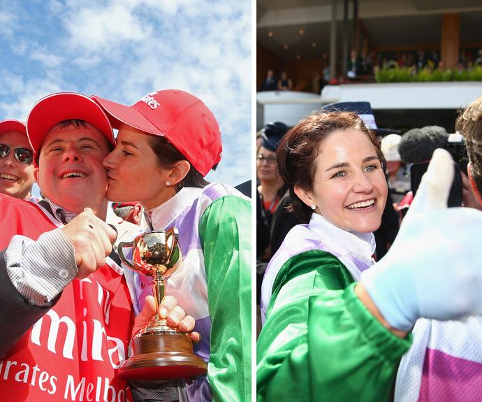 **Galloping into the history books** [In November, Michelle Payne became the first ever female winner of the Melbourne Cup](http://www.womansday.com.au/real-life/news-stories/how-melbourne-cup-winner-michelle-payne-won-our-hearts-14046). Although we reckon she's an incredible woman, Australia also couldn't help falling in love with her biggest supporter and brother Stevie too.