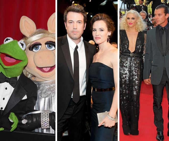 **Heartbreak reigned supreme** It was a tough year for love in Hollywood. You'd be forgiven if your belief in true romance was a little shaken after big names like Kermit the Frog and Miss Piggy decided to call it quits. [Among those signing](http://www.womansday.com.au/celebrity/hollywood-stars/the-most-shocking-celebrity-splits-of-2015-13293) divorce papers were Gwen Stefani, Gavin Rossdale and Jen Garner and Ben Affleck.
