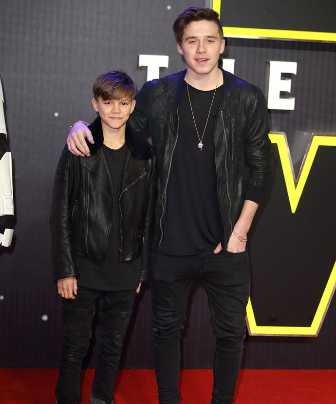 No doubt Brooklyn, 16, and Romeo, 12, who attendted for the *Stars Wars* premiere this week without their parents, are really looking forward to Christmas time in the British capital!