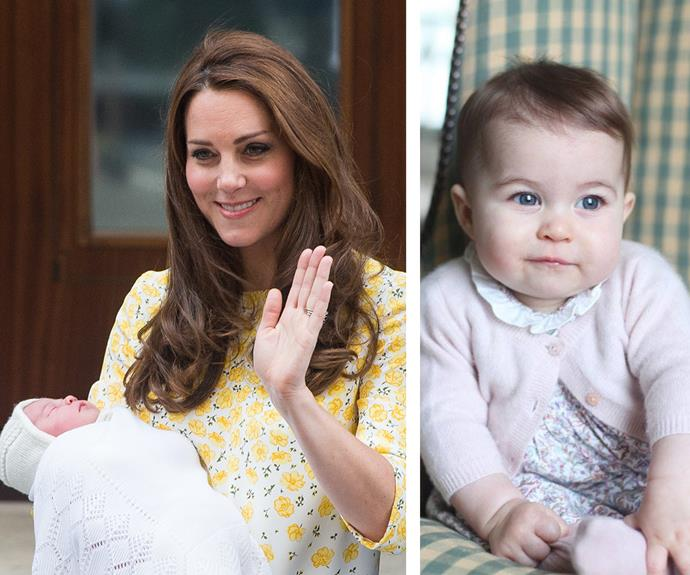 """**May babies** She's the [""""lady like"""" royal](http://www.womansday.com.au/royals/british-royal-family/prince-william-reveals-princess-charlotte-is-ladylike-13897) the world was just dying to meet. And on May 2, Princess Charlotte Elizabeth Diana of Cambridge arrived in style. Those iconic scenes of Prince William and Duchess Catherine cradling their newborn on the steps of St Mary's hospital [will go down as one of the most memorable moments of the year.](http://www.womansday.com.au/entertainment/viral/15-stories-that-defined-2015-14348)"""