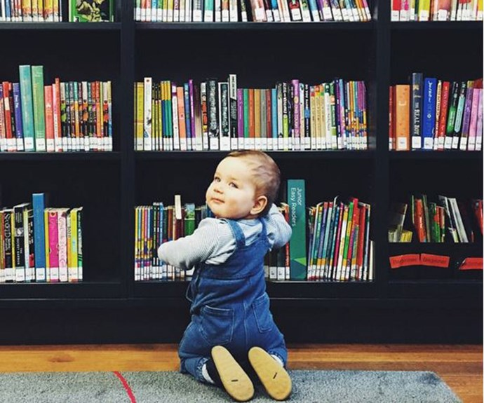 "**That time he was a rubbish librarian**  ""Fiiiiinally! God. I will NEVER employ a one year-old to alphabetically organise my book shelves again."""