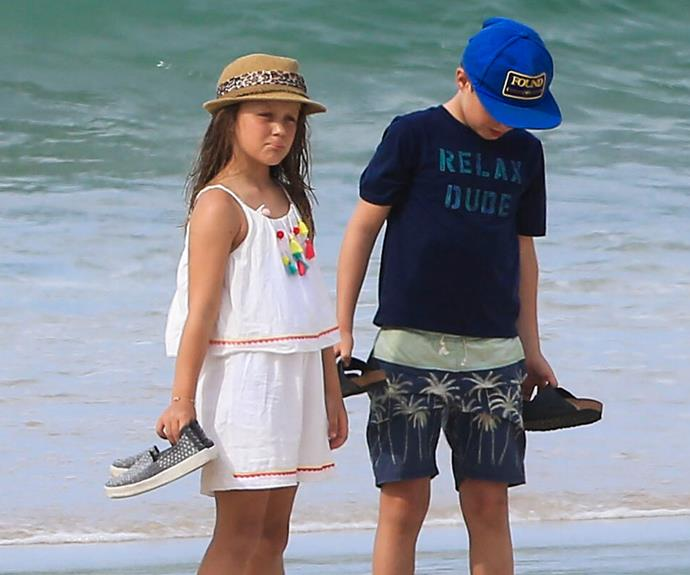 Isabella, eight, and Christian, ten, are truly embracing their Australian heritage.