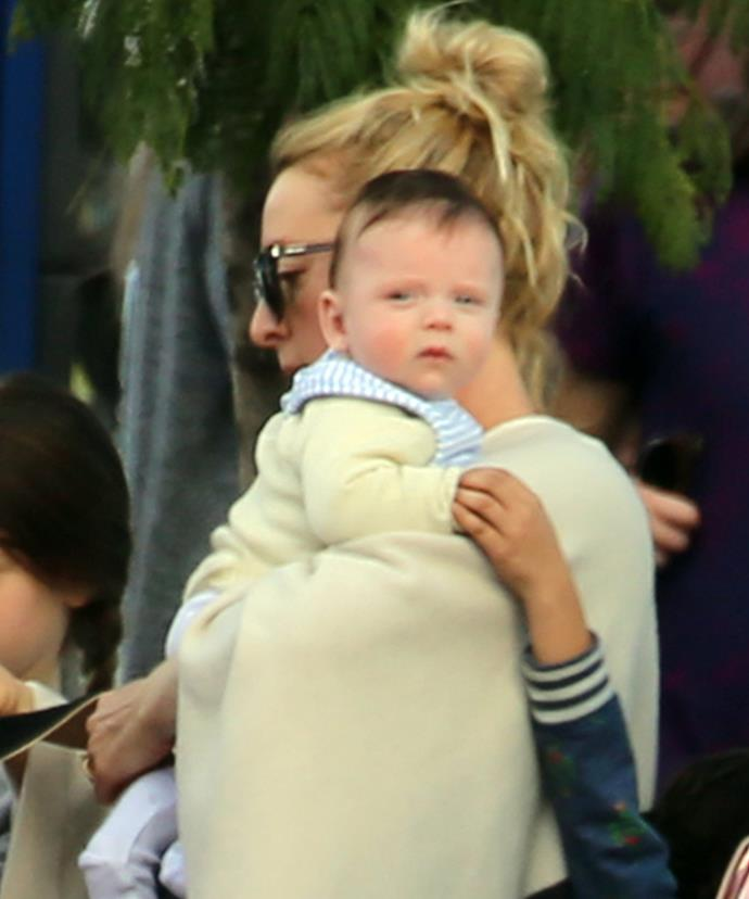 Valentino, pictured at four months old with mum Asher in Perth last year, will celebrate his first birthday in March.