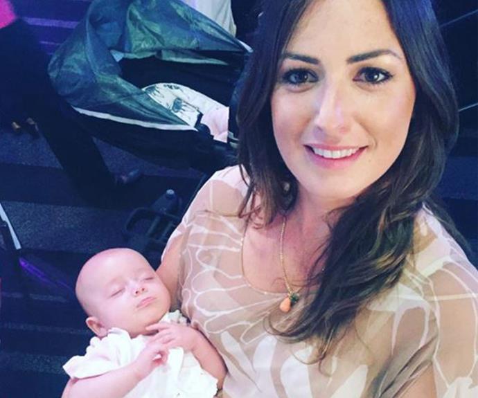 """Best behaved at the #janemcgrathday high tea,"" Sara mused alongside this sweet selfie."
