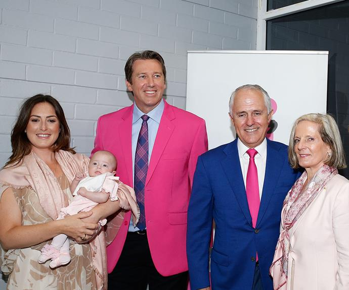Prime Minister Malcolm Turnbull and his wife Lucy Turnbull were also in attendance.