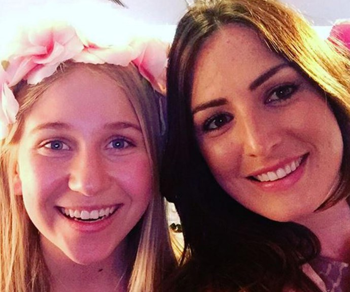 """""""Most beautiful and precious girl at the high tea #justlikehermom #janemcgrathday,"""" Sara penned next to this photo with Holly."""